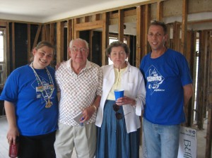 One of the families helped by Behrend Builders in New Orleans with (former) Behrend Coordinator Annie Mehlman and Director Randy Bacon.