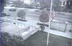 Walking Towards the Flag Pole at 16th and Q