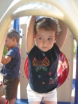 Playing at the park during the first week of school